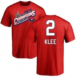 Men's Ken Klee Washington Capitals 2018 Stanley Cup Champions Tape to Tape T-Shirt - Red