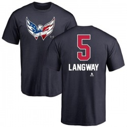 Youth Rod Langway Washington Capitals Name and Number Banner Wave T-Shirt - Navy